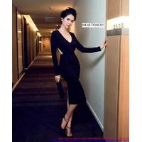 Hàng mới về : Đầm body dài tay cut out khoe eo quyến rũ sexy eDDNC61