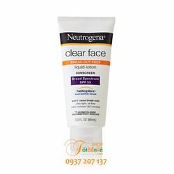 Kem chống nắng Neutrogena Clean Face SPF 55 88ml