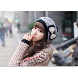 Nón len găn nơ Hàn Quốc HK03011