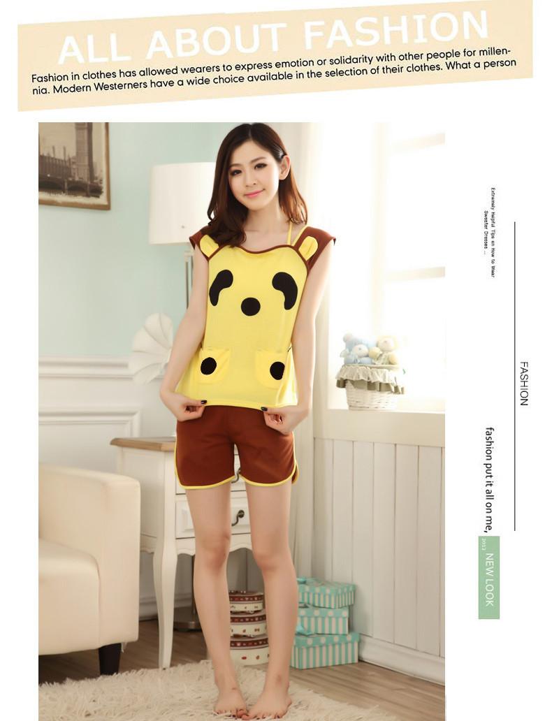 Bộ đồ short mặc nhà gấu panda xinh xắn dtt07073 5