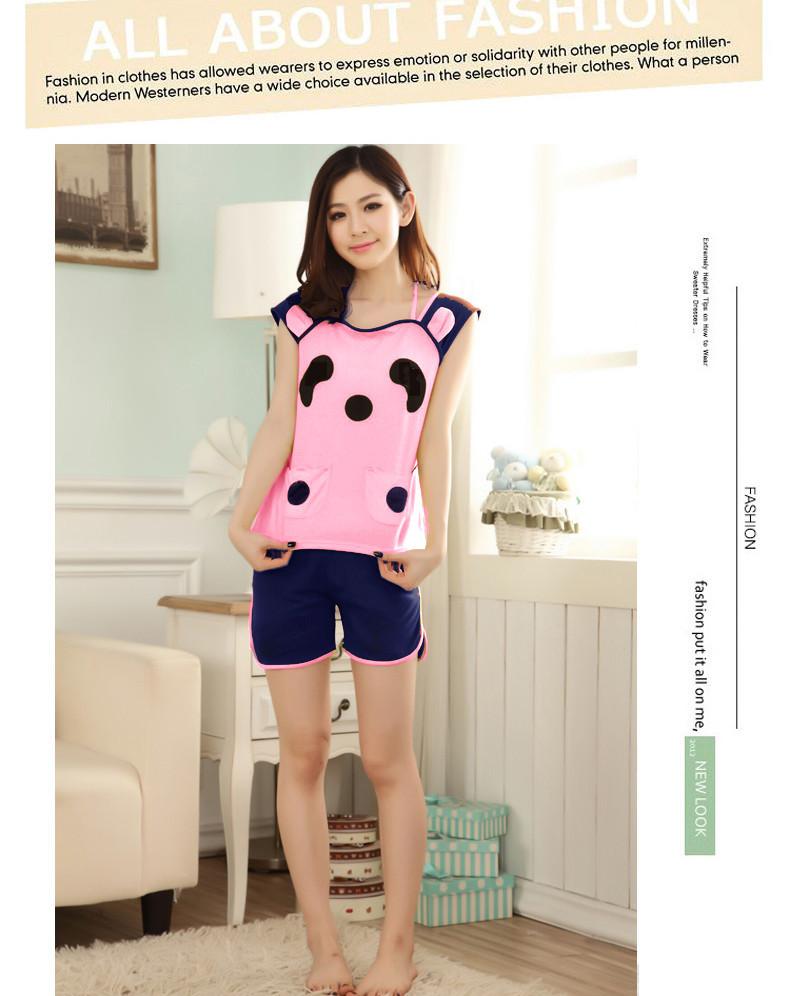 Bộ đồ short mặc nhà gấu panda xinh xắn dtt07073 2