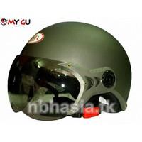 Mũ bảo hiểm cao cấp ASIA 105K8 - Xám nhám SIZE M