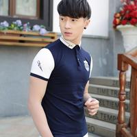 Aó thun nam mau xanh đen logo đẹp dành cho nam trẻ trung, cá tính