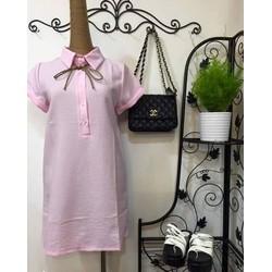 Shop Cún - SALE OFF - Đầm suông cổ Sơ Mi Xinh Xắn