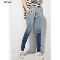 Quần jeans lưng thun phối màu Mã: QD599