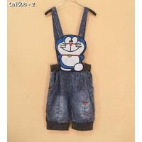 Quần short jeans overall đôreamon Mã: QN506 - 2