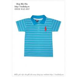 Áo Polo sọc xanh lịch lãm