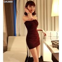 Đầm dự tiệc cúp ngực kim tuyến Mã: DA3868