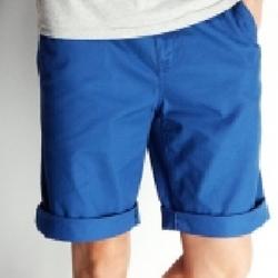 Quần kaki nam short dành cho nam màu xanh coban trẻ trung, cá tính