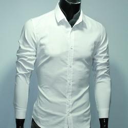 Aó sơ mi nam màu trắng vải đẹp kate ý không nhăn dành cho phái mạnh