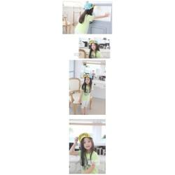 Nón lưỡi trai hình hoa phong cách Hàn Quốc cho bé gái