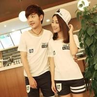 Aó thun đôi màu trắng from đẹp giá rẻ nhất dành cho nam nữ
