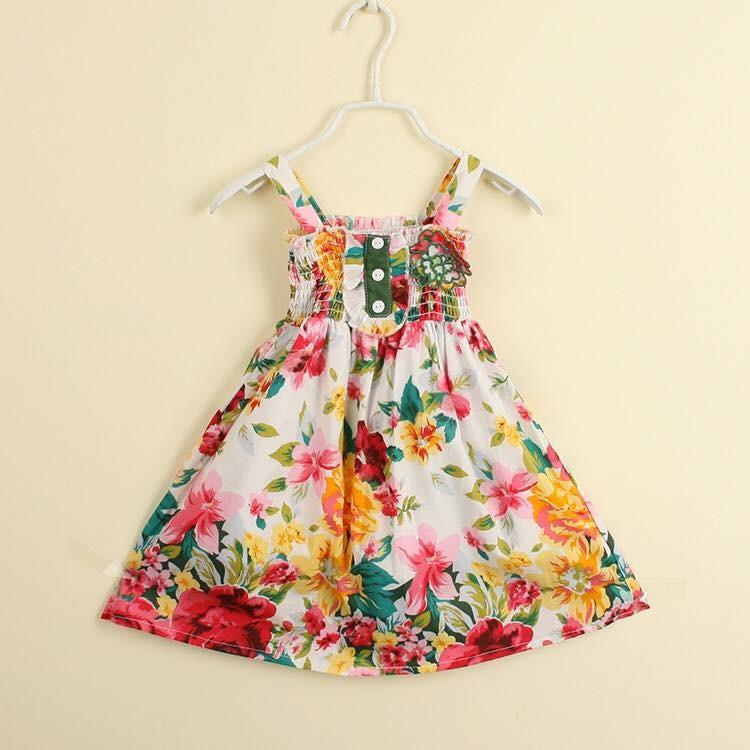2174  _ Đầm  - floral - Tinker Bell Kids 1