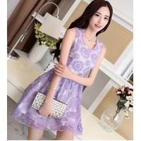 Đầm ren hoa tím thời trang cao cấp cxs149