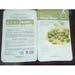 Mặt Nạ Real Nature Mask sheet Mung Bean – đậu xanh