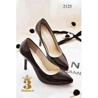 Giày cao gót mũi nhọn màu đen cao cấp