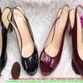 Giày cao gót hở mũi có nơ sành điệu thời trang hàng xuất khẩu GC123