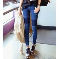 quần jeans skinny vá cá tính Mã: QD640