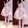 Đầm hoa dáng bồng