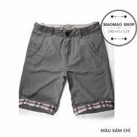 MaoMao - Quần Short Kaki SUPER DRY Hot 2015 - Màu Xám Chì - QS-28