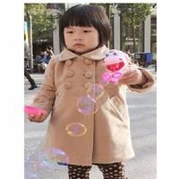 Áo khoác bé gái 6 nút dễ thương