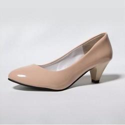 Giày cao gót màu kem size 37, cao 4cm