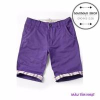 MaoMao - Quần Short Kaki SUPER DRY Hot 2015 - Màu Tím Nhạt - QS-22