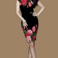 Đầm in hoa ngọc trinh CXS156