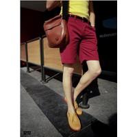 MaoMao - Quần Shorts Nam Phong Cách - Màu Đỏ - MLS004