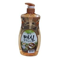 Nước rửa chén cao cấp CJ LION tinh chất hoa mơ 960ml xách tay Hàn Quốc
