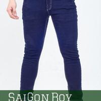 Quần jeans thun ống côn chỉ nổi J39