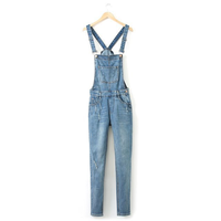 [LaiLa Fashion] Hàng nhập - Quần jean bò yếm nữ QH1506