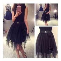 Chân váy nữ lưới xòe Mã: VN308