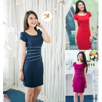 Đầm công sở viền eo Elisa VD208