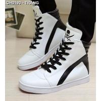 Giày thể thao phối màu đầu lâu Mã: GH0193 - TRẮNG
