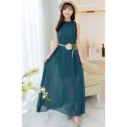Đầm dạ hội cổ yếm suông SD333