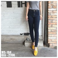 Quần jeans 2 da lưng cao _ hàng cao cấp