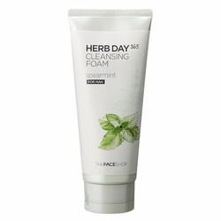 Sữa rửa mặt nam Herb Day 365 Cleansing Foam đậu xanh 170ml Hàn Quốc