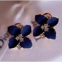 Khuyên tai hoa đính đá pha lê sang trọng giá chỉ 65k