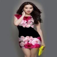 ĐẦM BODY 3D NGỌC TRINH HOA HỒNG NHUNG 0131GS230