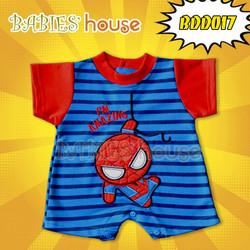 Body Liền quần ngắn hình Người nhện ngộ nghĩnh cho bé sơ sinh