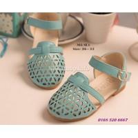 Sandal đục lỗ cho bé gái 1-10 tuổi kiểu dáng Hàn Quốc SL1 - XANH