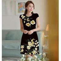 Đầm suông in hoa CS229