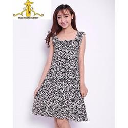 Đầm suông họa tiết thời trang TH08343