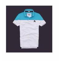 MAOMAO - Áo Polo BURBERRY Phối 2 Màu - xanh nhạt trắng