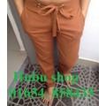Quần đũi nam linen cam
