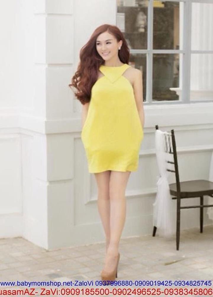 Đầm suông thiết kế cổ yếm sành điệu và thời trang DSV30 1