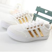 Giày bánh mì thể thao 3 sọc ánh kim trắng G779-T