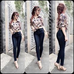 Quần jean lưng cao 1 nút Nana