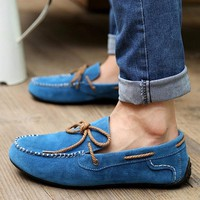 Giày nam mọi cột dây